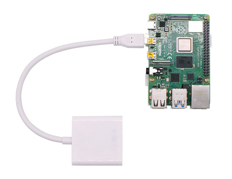 Micro-HDMI to VGA adapt cable for Raspberry Pi 4B