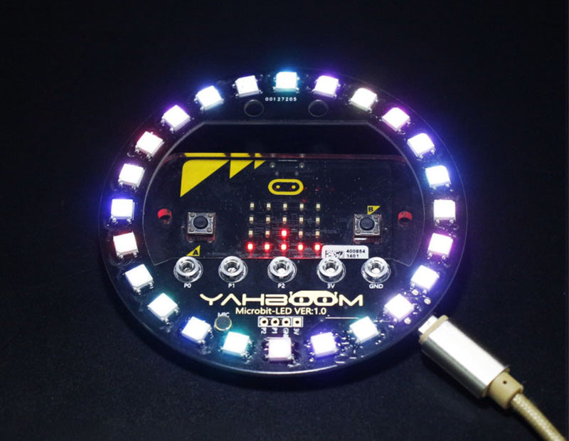 Yahboom Micro:bit RGB LED halo expansion board