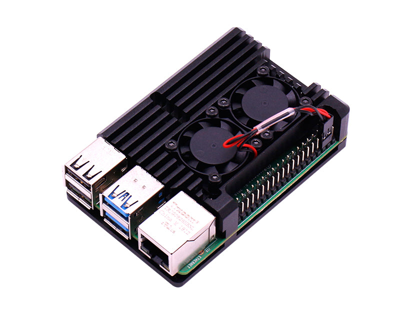 Raspberry Pi 4B double fan armor case for 4B