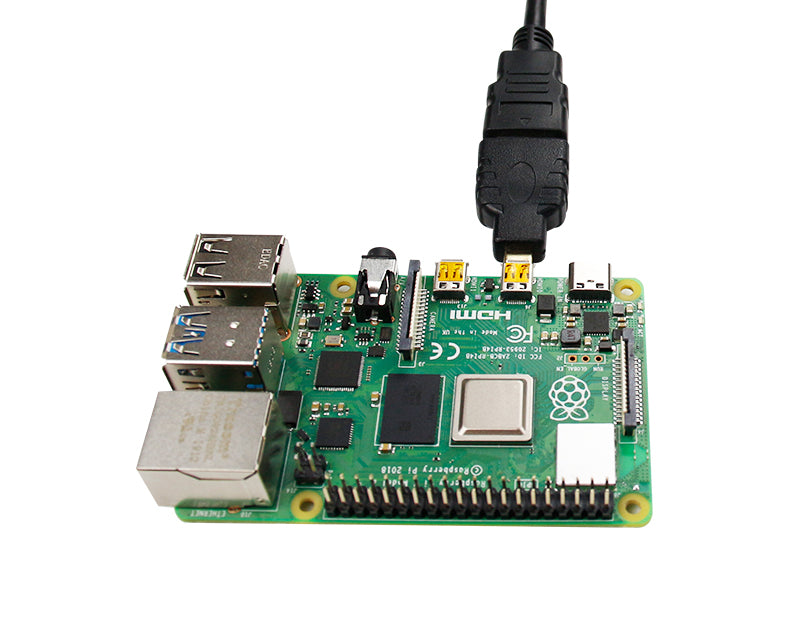 Micro-HDMI to HDMI adapter for Raspberry Pi 4B