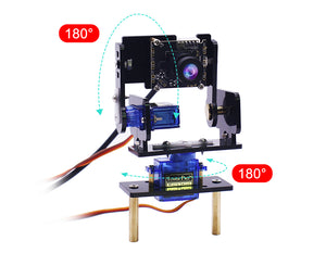 Yahboom HD Camera Pan-Tilt Kit with 2 Pcs SG90 Micro Servos for robot car