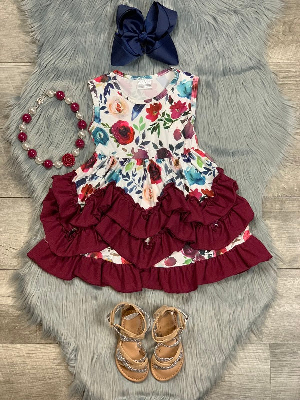 maroon-floral-ruffle-dress-outfit