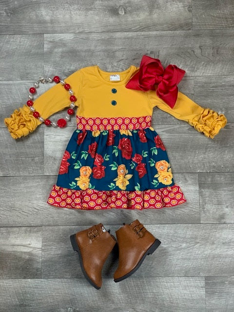 mustard-scarlett-floral-dress-outfit