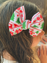 Aztec Christmas Bullet Fabric Bow