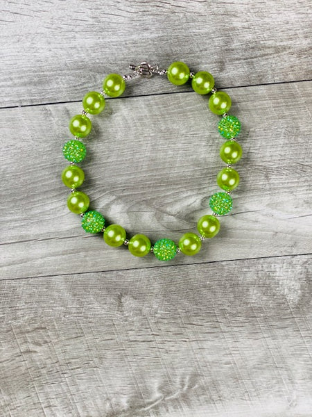 Lime Green Rhinestone Necklace