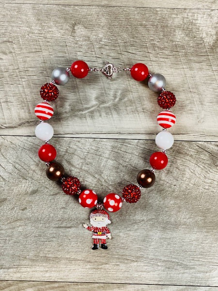 Santa Rhinestone Necklace