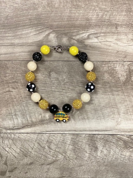 Black & Yellow Bus Necklace