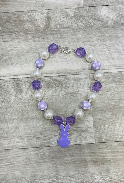 Lavender Bunny Peeps Necklace