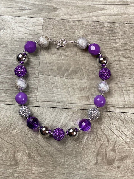 Purple & Silver Necklace