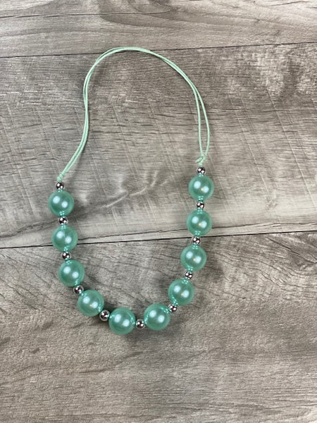 Adjustable Aqua Necklace