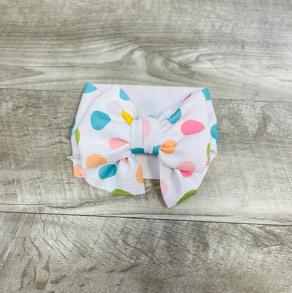 Pastel Egg Messy Bow Headband