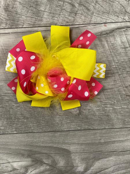 Pink & Yellow Bow
