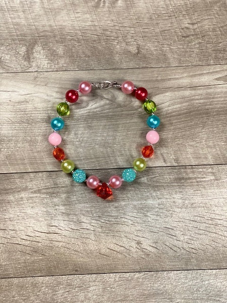 Pink, Red, Lime & Turquoise Necklace