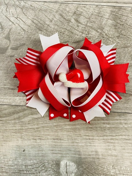 Santa Hat Boutique Bow