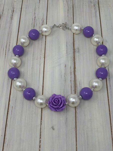 Lavender and pearl Necklace