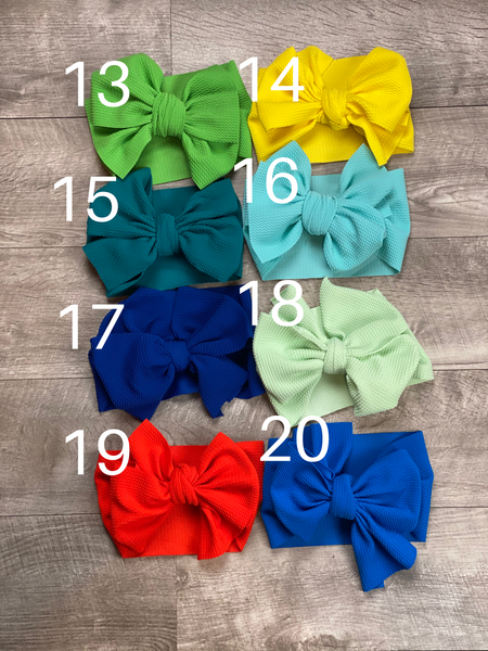 Fabric Messy Bow Headbands- 32 COLORS!