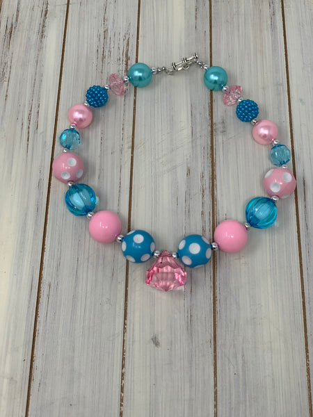 Light pink and blue Necklace