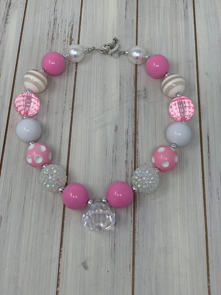 Light pink and white Necklace