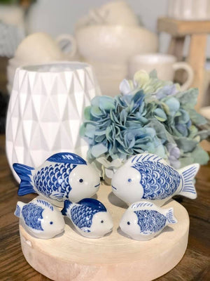 Alfesco Medium Floating Porcelain Fish