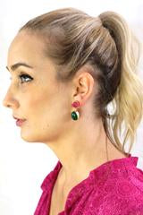 Zoda Drop Earring Pink/Jade