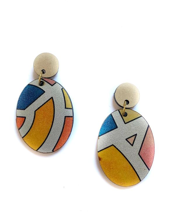 Zoda Geo Pattern Drop Earring
