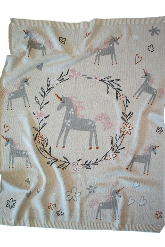 Indus Design Unicorn Baby Blanket