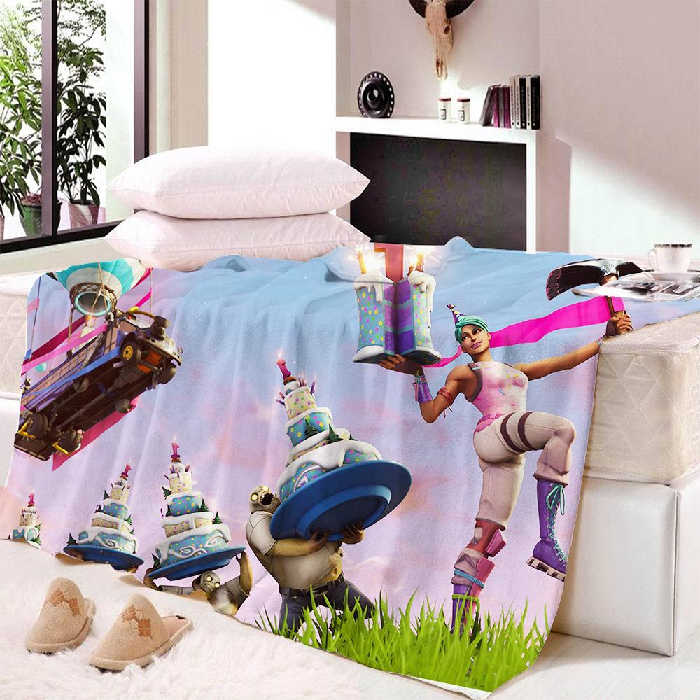 Fortnite Flannel Fleece Blankets Dorm Outlet Store