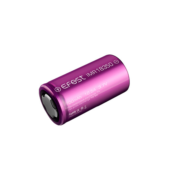 Batterie Efest IMR 18350 - 700mAh 10.5A - NYCTALOPE