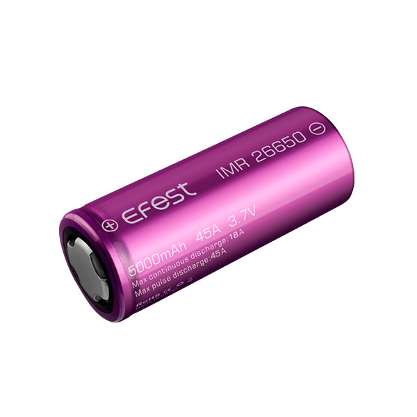 Batterie Efest IMR 26650 - 5000mAh 45A - NYCTALOPE