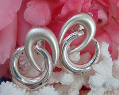Sterling Silver Double Swirl Earring