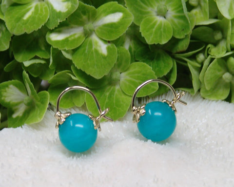 Amazonite Mini Huggie Earring