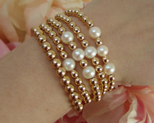 Gold Filled Bead Bracelet