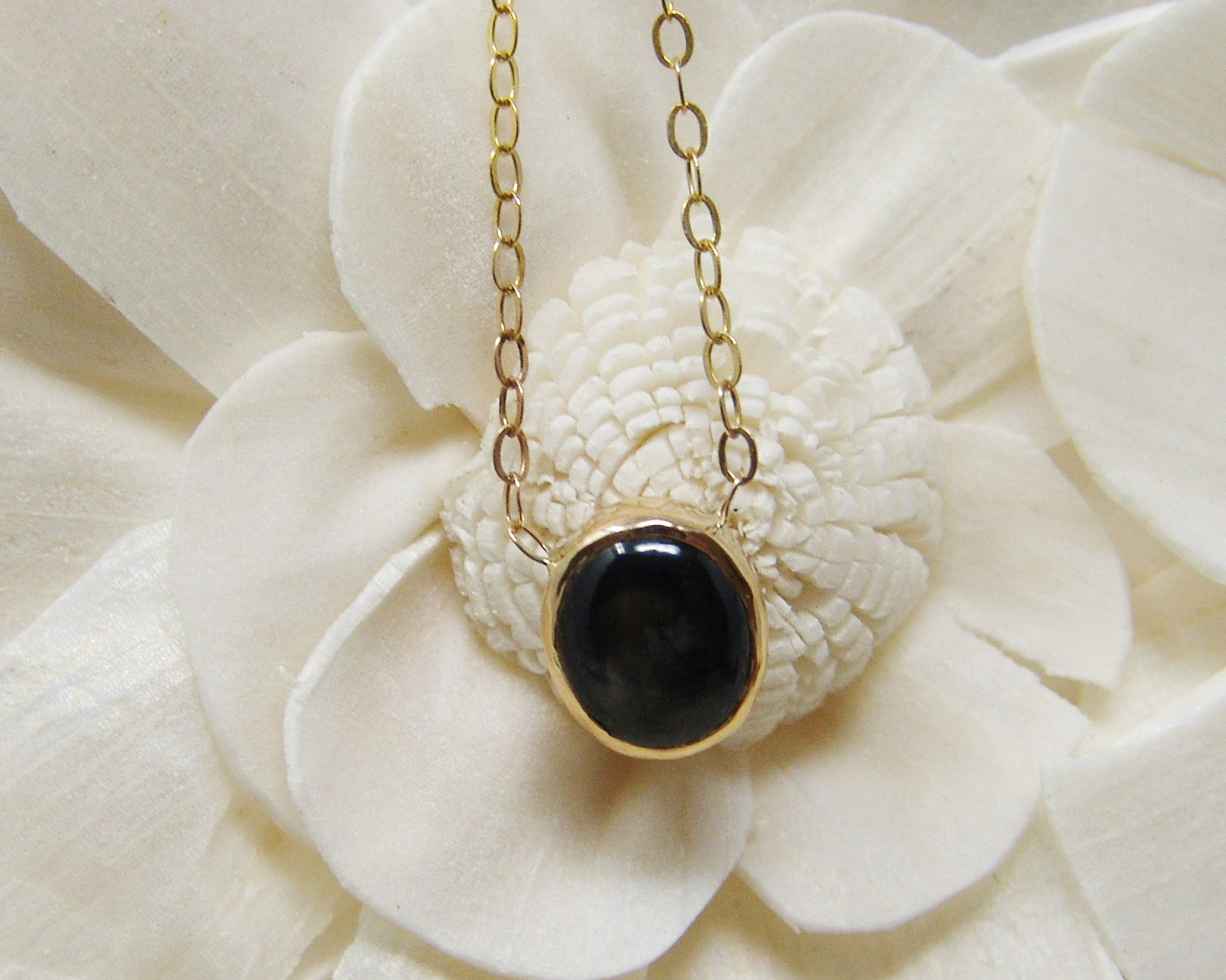 Black Star Sapphire Necklace