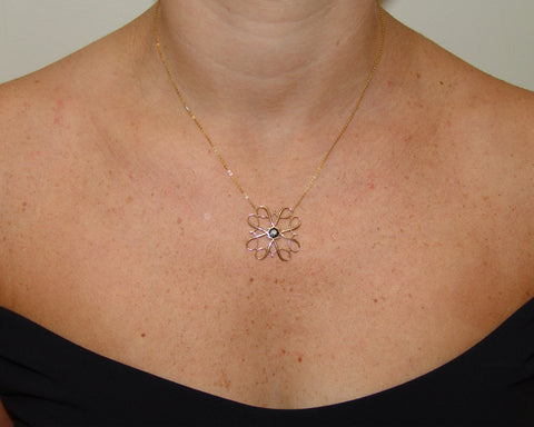 Victorian Pin Necklace – Flower Style