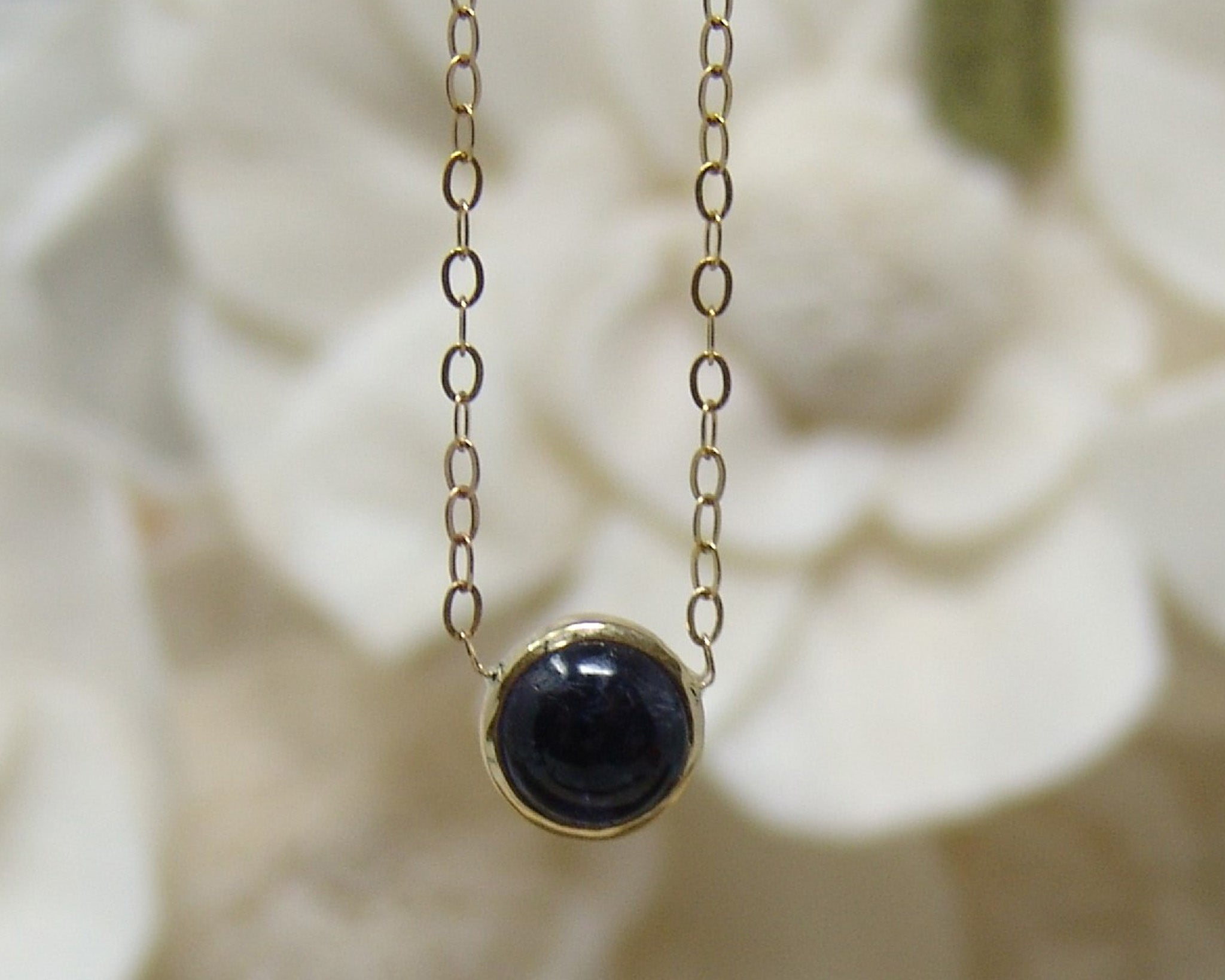 Tiny Iolite Necklace