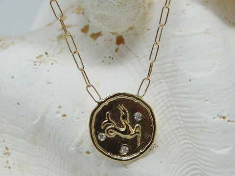 Capricorn (Sea Goat) Astrology Necklace