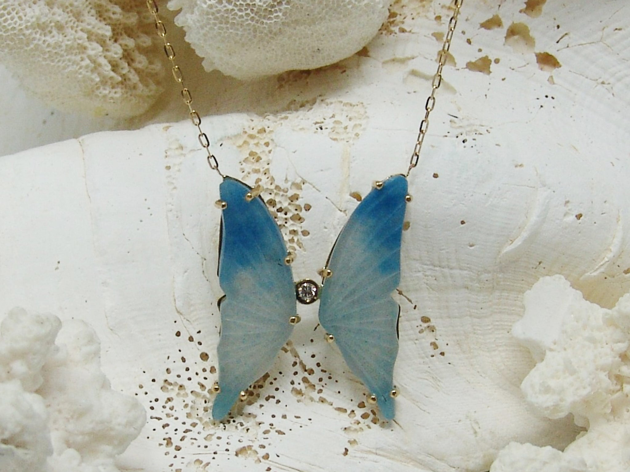 Butterfly Necklace (Blue Tonne Iolite)