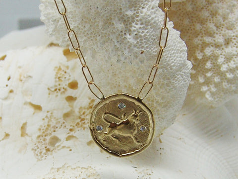 Taurus (Bull) Astrology Necklace