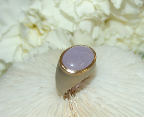 Lavender Chalcedony Stone Ring