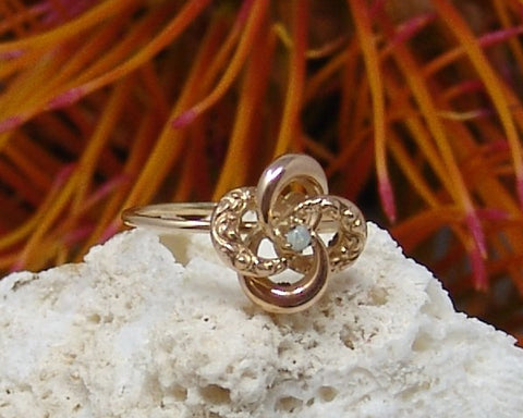 Victorian Pin Converted to a Ring