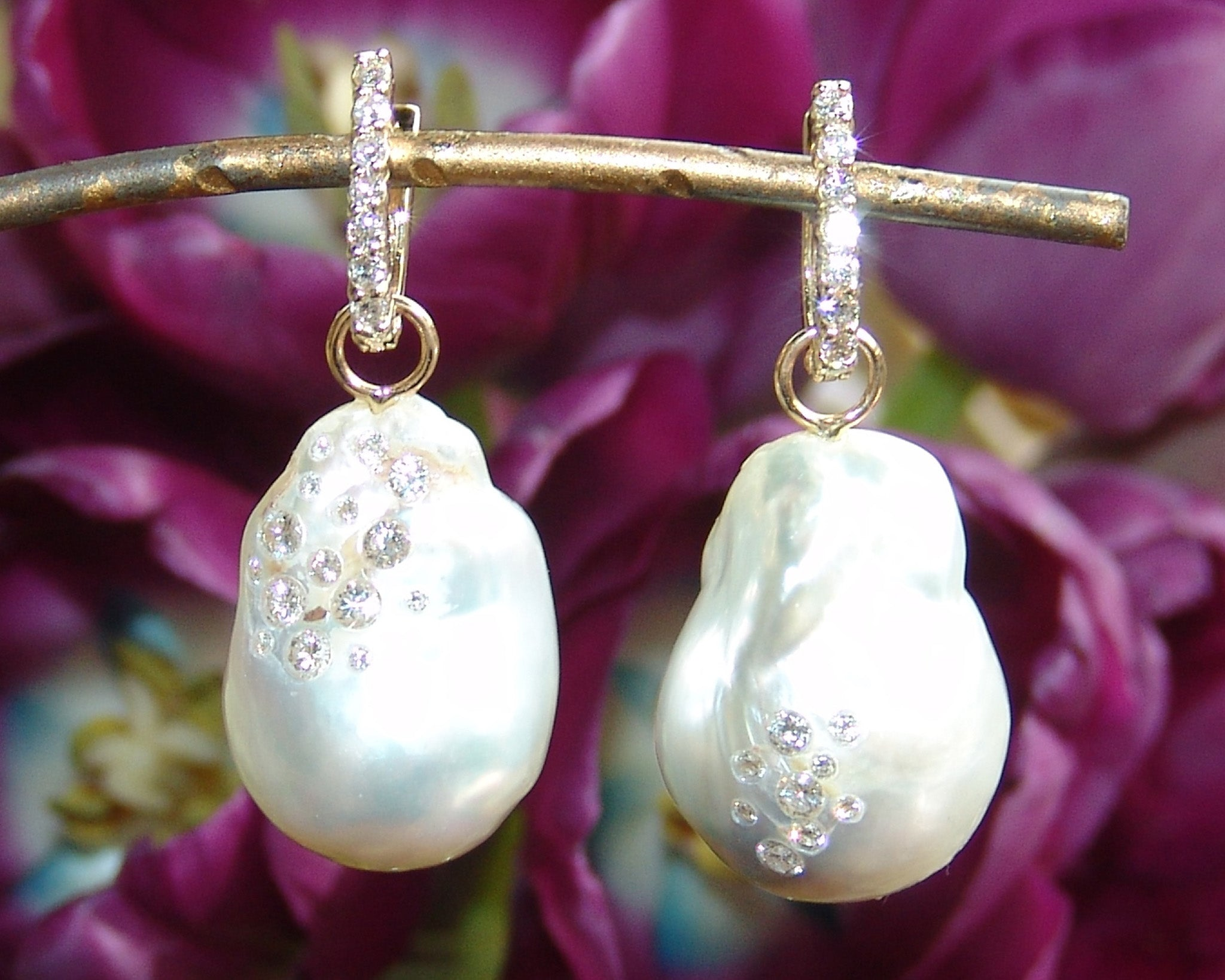 Large Baroque White Pearls