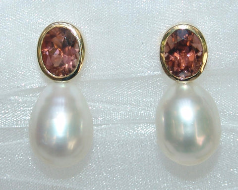 Oval White Drop South Sea Pearls