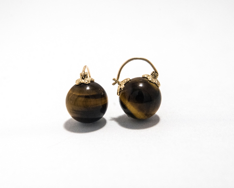 Tigers Eye Earring