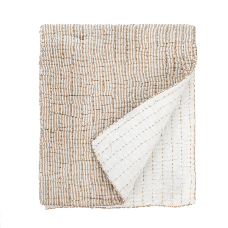 Quilted Throw Mocha