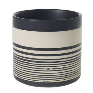 Striped Ceramic Pot