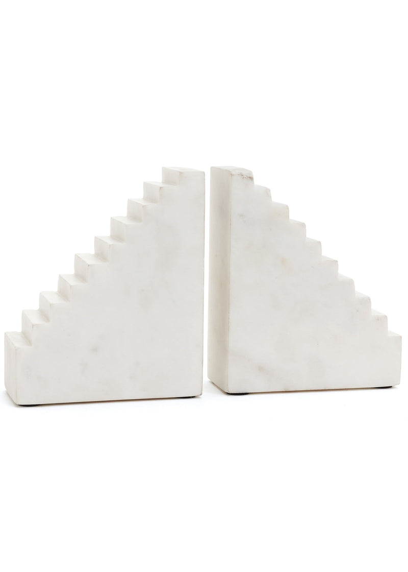 Geo Marble Bookends Set of 2