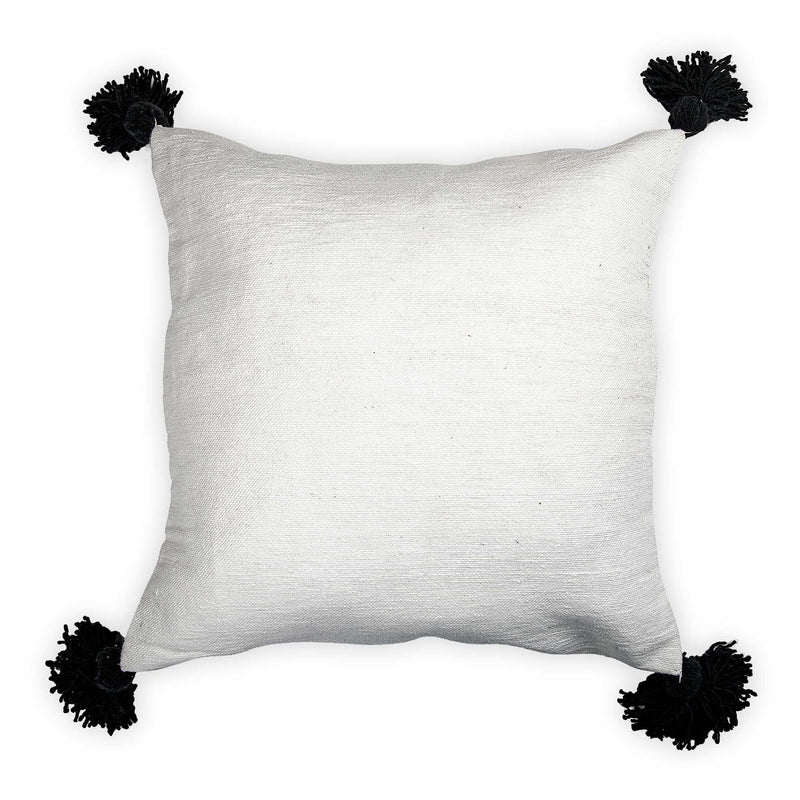 Mococcan 20x20 Pillow Cover- Black Pom