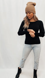 Black Round Neck Sweater