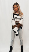 Striped Colour Block Sweater