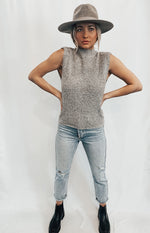 Mockneck Sweater Grey